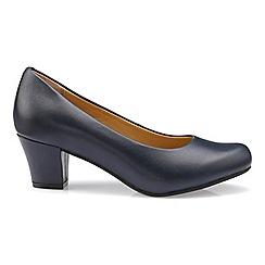 Hotter - Navy 'Angelica' mid heel shoes