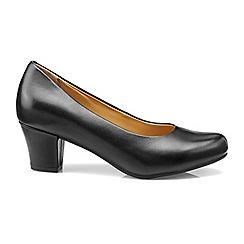 Hotter - Black 'Angelica' mid heel shoes
