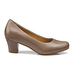 Hotter - Light brown 'Angelica' mid heel shoes