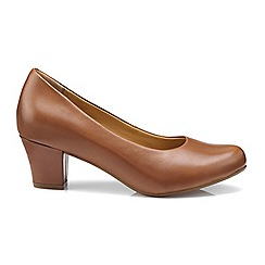 Hotter - Dark tan 'Angelica' mid heel shoes