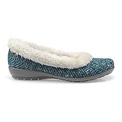 Hotter - Dark green 'Amelia' ladies slippers