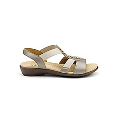 Hotter - Metallic 'Beam' wide fit slingback sandals