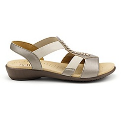 Hotter - Metallic leather 'Beam' slingback sandals
