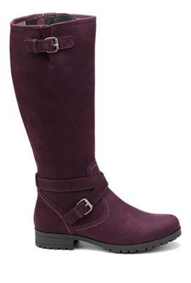 Hotter - Plum knee 'Belle' knee Plum high boots 3deedf