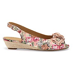Hotter - Pink 'Betsy' wide fit peep toe sandals