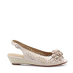 1a0ee1ab895 Hotter - Beige  Betsy  Wide Fit Slingbacks