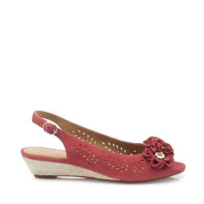 Hotter - Pink 'Betsy' peep toe toe toe sandals cdf49b