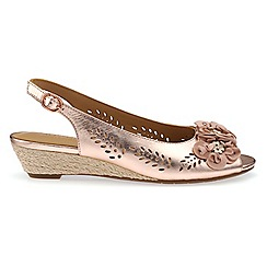 Hotter - Light gold 'Betsy' wide fit peep toe sandals