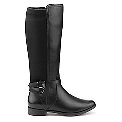 Hotter - Black leather 'Briony' knee high boots