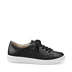 Hotter - Near black 'Brooke' wide fit lace-up shoes