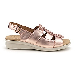 f0e31fe3a9a Hotter - Light gold  Candice  wide fit slingback sandals