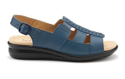 Hotter - Blue 'Candice' wide fit slingback sandals