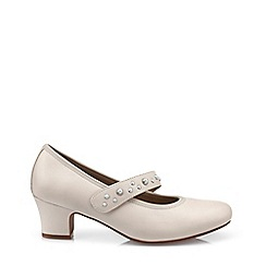 Hotter - Beige 'Charmaine' Mid Heel Shoes