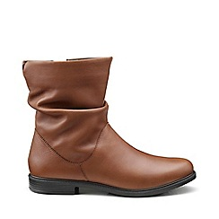 Hotter - Dark tan 'Chester' calf boots