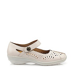 Hotter - Beige 'Chile' Wide Fit Mary Jane Shoes