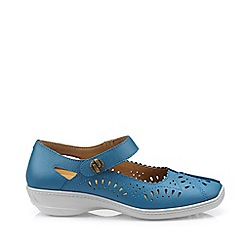 Hotter - Dark Blue 'Chile' Mary Jane Shoes