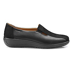 Hotter - Black 'Calypso' wide fit slip on shoes