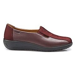 Hotter - Maroon 'Calypso' slip on shoes