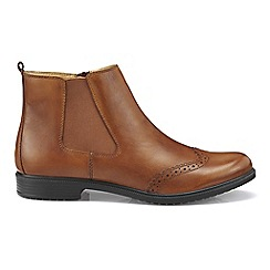 Hotter - Tan leather 'County' chelsea style boots