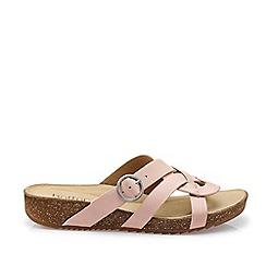 Hotter - Light Pink 'Coral' Peep Toe Sandals
