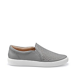 Hotter - Grey 'Daisy' slip-on pumps
