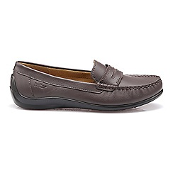 Hotter - Metallic 'Darcy' moccasin shoes