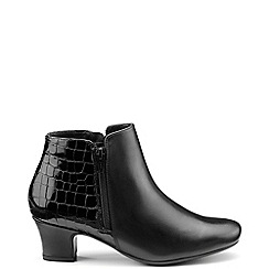 Hotter - Near black 'Delight' ankle boots