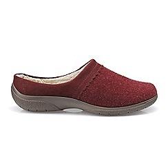 Hotter - Dark Red 'Devotion' slip on slippers
