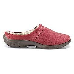 Hotter - Red 'Devotion' slip on slippers