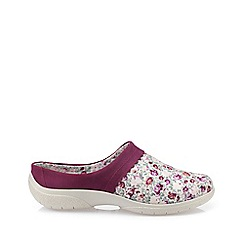 Hotter - Dark pink 'Devotion' mule slippers