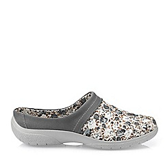 Hotter - Light Grey 'Devotion' Mule Slippers