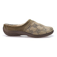 Hotter - Taupe 'Devotion' mule slippers