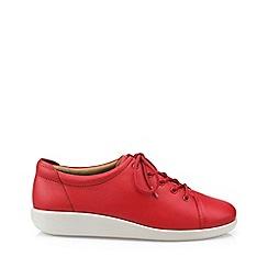 Hotter - Dark orange 'Dew' wide fit lace-up shoes