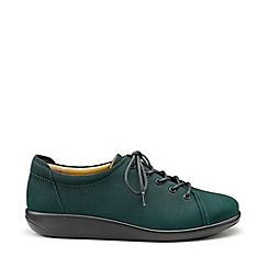 Hotter - Dark green 'Dew' lace-up shoes