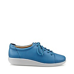 Hotter - Blue 'Dew' extra wide lace-up shoes