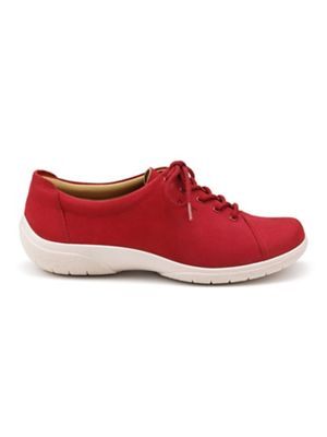 Hotter - Bright red 'Dew' wide fit lace-up shoes