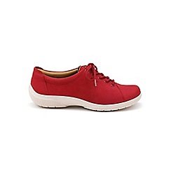 Hotter - Red suede 'Dew' lace-up shoes