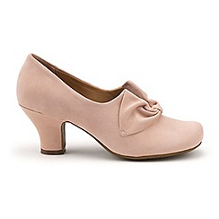 Hotter - Pale pink 'Donna' wide fit court shoes