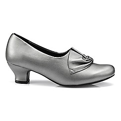 Hotter - Metallic 'Donna' wide fit court shoes