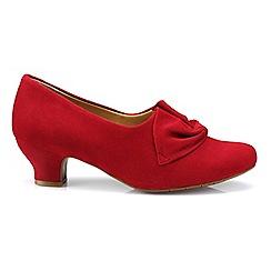 Hotter - Bright red 'Donna' court shoes