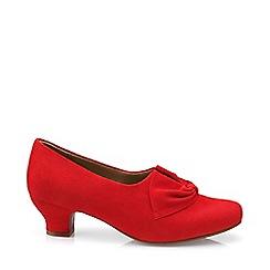 Hotter - Dark orange 'Donna' court shoes