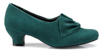 Hotter - Dark green 'Donna' court shoes