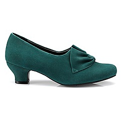 Hotter - Dark green 'Donna' court shoes