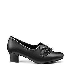 Hotter - Black 'Donna' court shoes