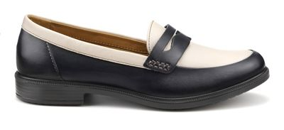 Hotter - Navy 'Dorset' wide fit loafers