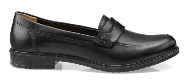 Hotter - Black Dorset Wide Fit Slip On Shoes