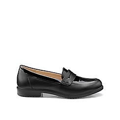 Hotter - Black patent 'Dorset' wide fit loafers