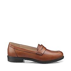 Hotter - Dark tan 'Dorset' wide fit loafers