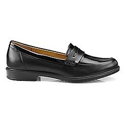 Hotter - Black patent 'Dorset' loafers