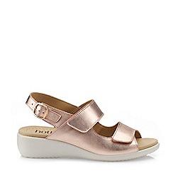 Hotter - Dark Gold 'Easy' Extra Wide Slingback Sandals